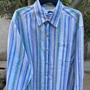 NW Tommy Bahama Relax 💯 Linen Dress Shirt, Sz XL